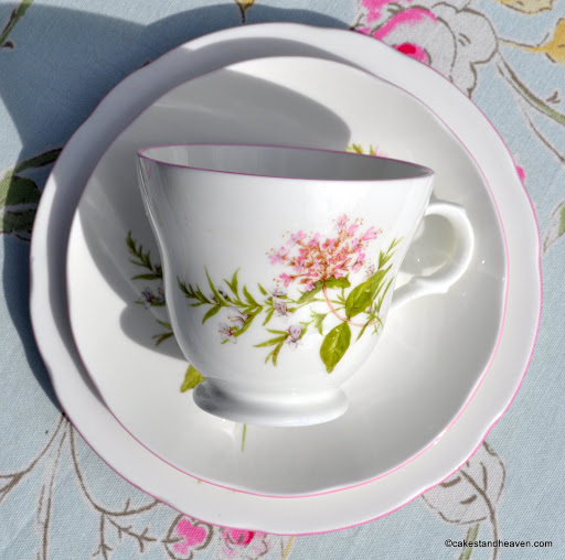 English bone china Crown Trent teacup trio