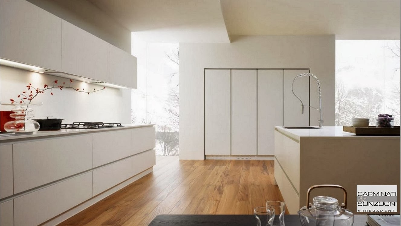 Cucine la casa moderna carminati e sonzognicarminati e for Piani di cucina con isola e camminare in dispensa