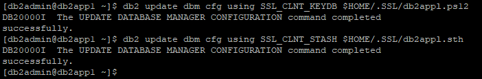 Update DBM SSL parameters