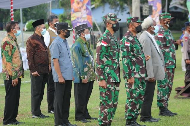 Kodam XVII/Cenderawasih Turut Ambil Bagian Dalam Apel Pengamanan PON XX 2021