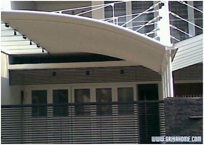 Desain rumah minimalis sederhana berkanopi