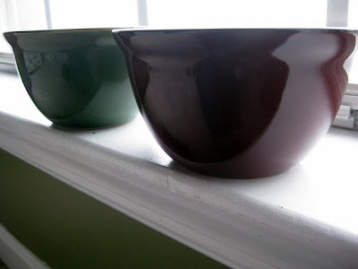 Green and Red Bowls from JCPenney - Photo by Michelle Judd of Taste As You Go