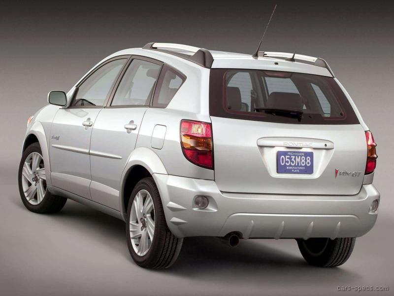 2005 Pontiac Vibe Wagon Specifications Pictures Prices