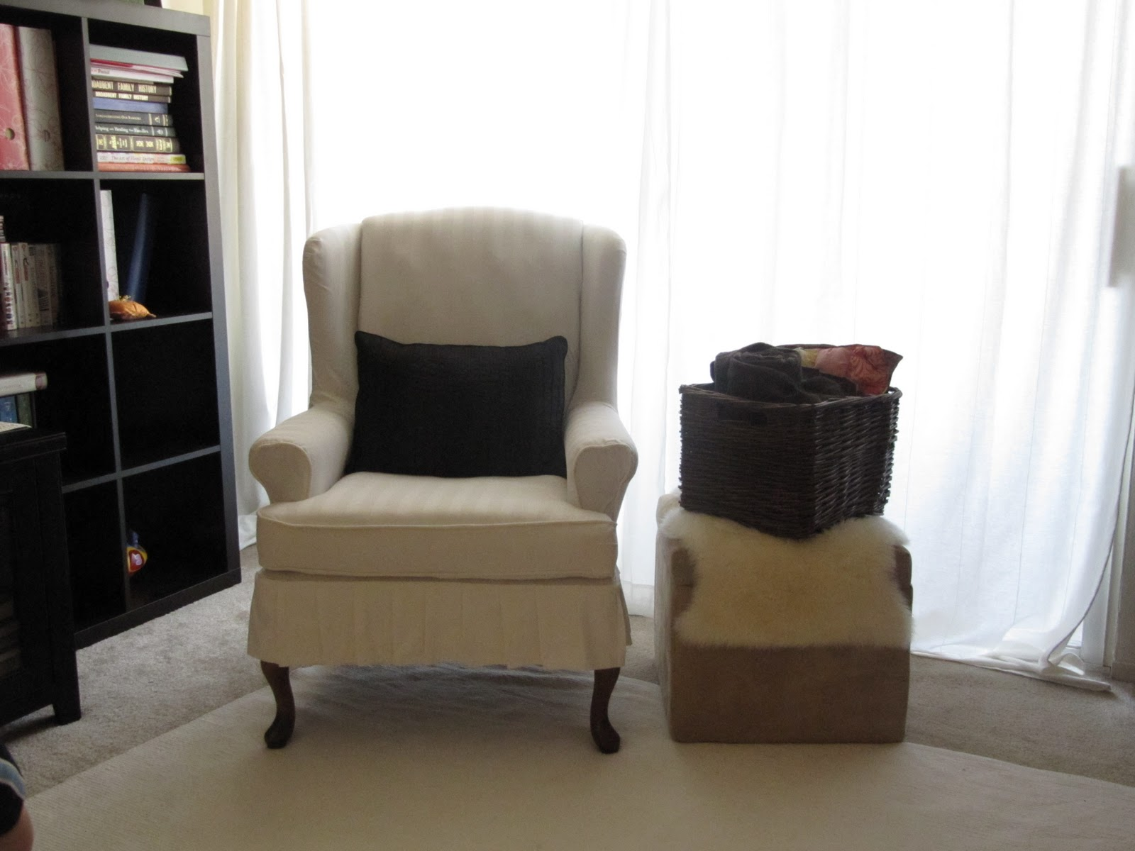 Charmant How To Make A Wing Chair Slipcover