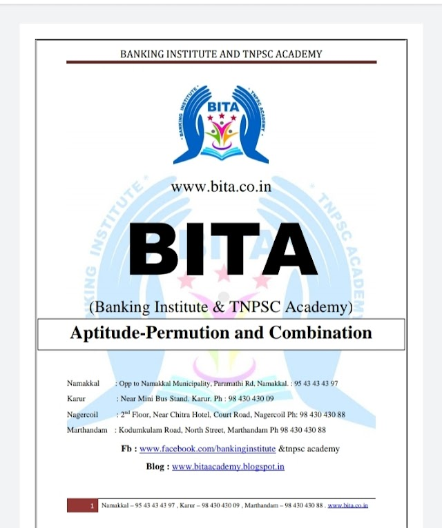 Banking Exam - Aptitude -Permution And Combination - Banking  Material 2021