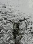 """""""Mensch"""", Glas bemalt, gebrannt 2006/09"""