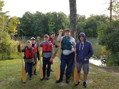 Troop 392 participating in the SKC Canoe Clinic