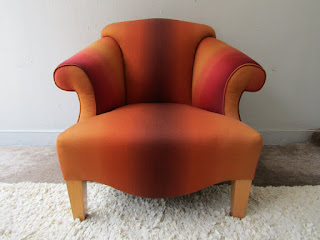 Ombre Upholstered Club Chair #1