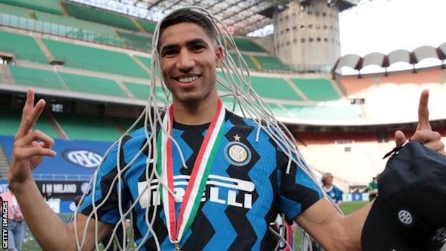 Achraf Hakimi: Paris St-Germain sign Inter Milan defender on five-year deal