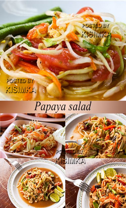 Stock Photo: Papaya salad