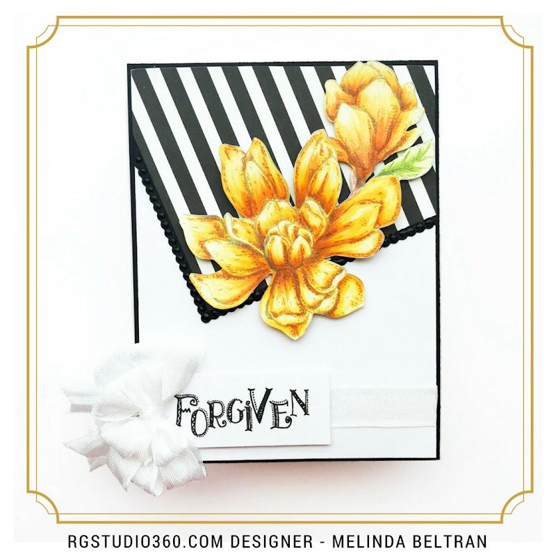 RG Magnolia Orange Card