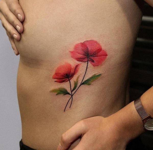 este_raio-x_do_estilo_aquarela_flor_da_tatuagem