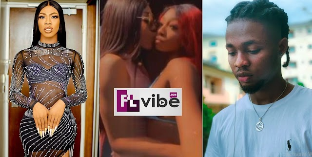 Gbas Gbos! Omah Lay's girlfriend C@ught k!ssing James Brown (Video)