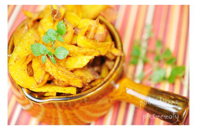 Dyniowe frytki z curry