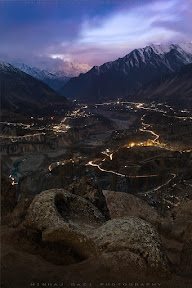 Twilight in Hunza City.