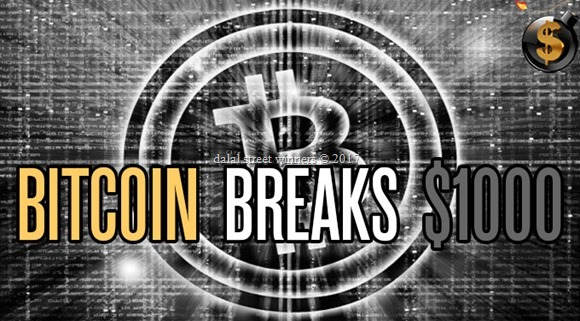 Bitcoin Breaks $1,000