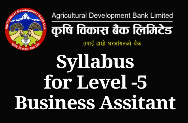 ADBL Syllabus forLevel -5 Business Assitant