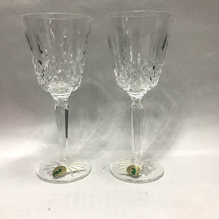 Waterford Crystal NEW Lismore Claret Glass Pair