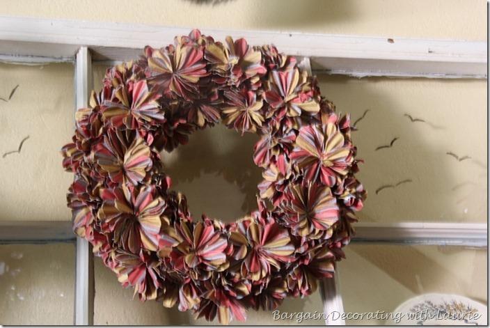 Fall colored wreath