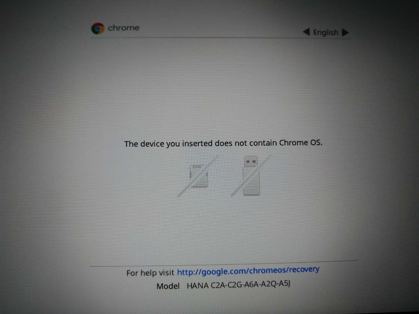 Lenovo N23 Yoga, chrome os damaged, cannot recovery from USB
