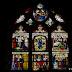Eglise Saint-Pierre Saint-Paul : vitrail retraçant la vie de la Vierge (fragments du 16e s.)