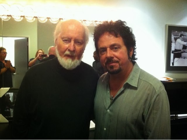 john williams with son joseph williams from the band toto