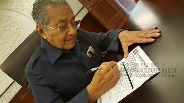 Artikel terbaru Tun Mahathir: MEMPERTAHANKAN NAJIB