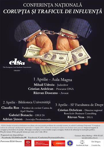 Conferinţa Naţionala Corupţia şi traficul de influenţă, aprilie 2015 #1