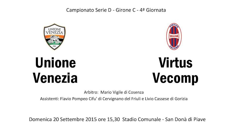 Unione Venezia-VirtusVecomp, rossoblu in 10