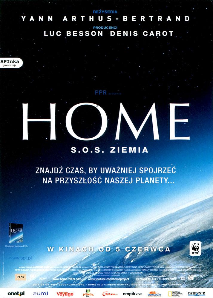 Ulotka filmu 'Home - S.O.S. Ziemia! (przód)'