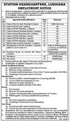 Station Headquarters Ludhiana Notification 2018 www.indgovtjobs.in