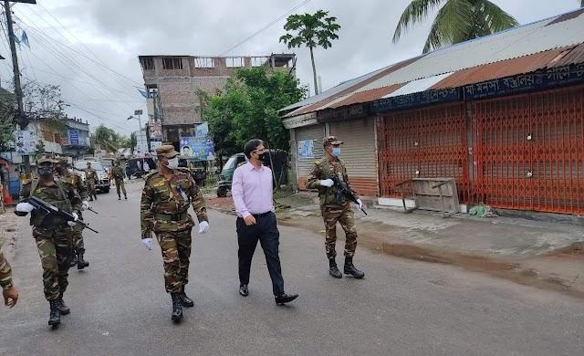 রামপালে লকডাউন বাস্তবায়নে মাঠে সেনাবাহিনী
