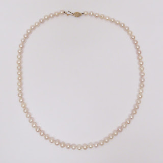 Pearl and 10K Gold Necklace