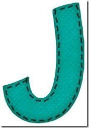 j letras verdes