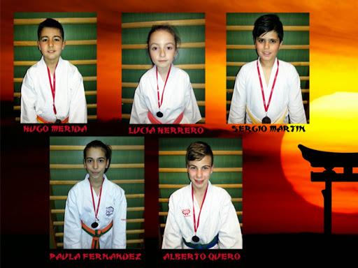 Los alumnos de la Escuela Municipal de Karate en la competición del Deporte Escolar Municipal de la Comunidad de Madrid.