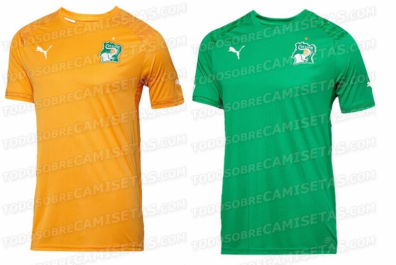16f3c8bf Puma Ivory Coast 2014 World Cup Home & Away Kits – Leaked