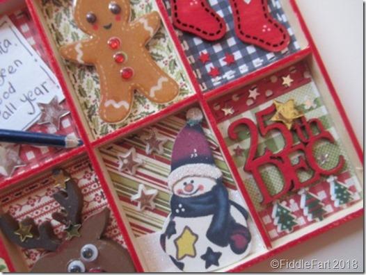 mini christmas printers tray decoration..
