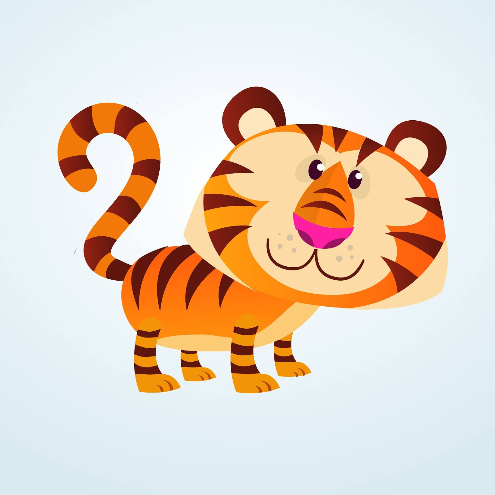 Cartoon Tiger Free Download Vector CDR, AI, EPS and PNG Formats
