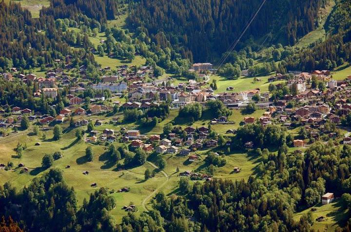 Деревня Венген в Швейцарии 5