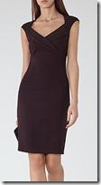 Reiss grape stretch crepe dress
