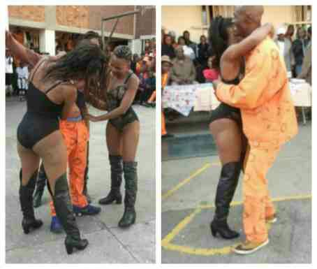 Strippers giving juice to prison inmates in South Africa
