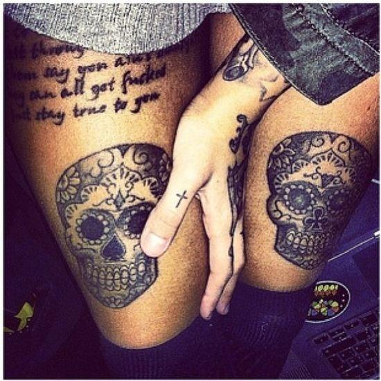 menina_preta_de_açcar_crnio_desenhos_de_tatuagem
