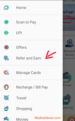 invite and earn money payZapp cash