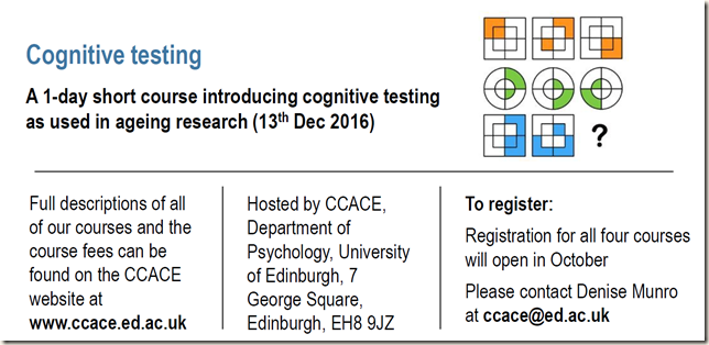 Cognitive testing and details