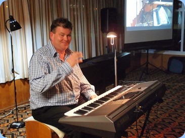 Chris Larking working his way through his programme and seen here playing a Yamaha PSR-S770 keyboard.  Photo courtesy of Dennis Lyons.