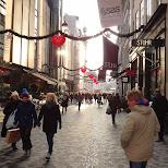 shopping street of kobmarsgade in Copenhagen, Copenhagen, Denmark