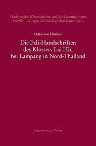 [Hinüber: Die Pali-Handschriften des Klosters Lai Hin, 2013]
