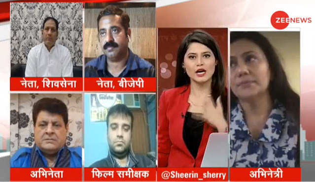 Film & TV Critic Murtaza Ali Khan participating in a live discussion on Zee News