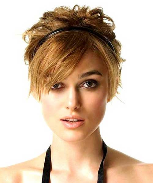 Short Pixie Hairstyle With Long Bangs Style Fashion Qe