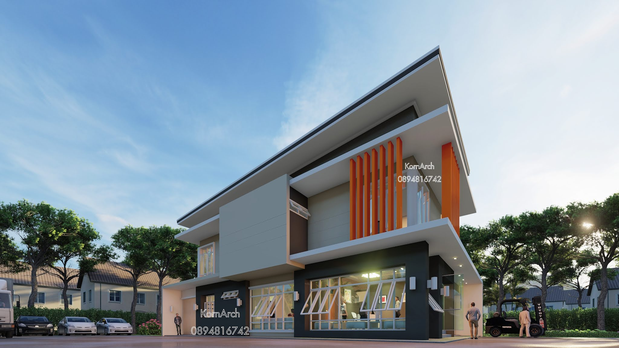 รับออกแบบโฮมออฟฟิศ2ชั้น  เจ้าของอาคาร : หจก.เค.เอส.เอ็ม.เอ็นจิเนีย  สถานที่ก่อสร้าง อ.เมือง จ.นครศรีธรรมราช